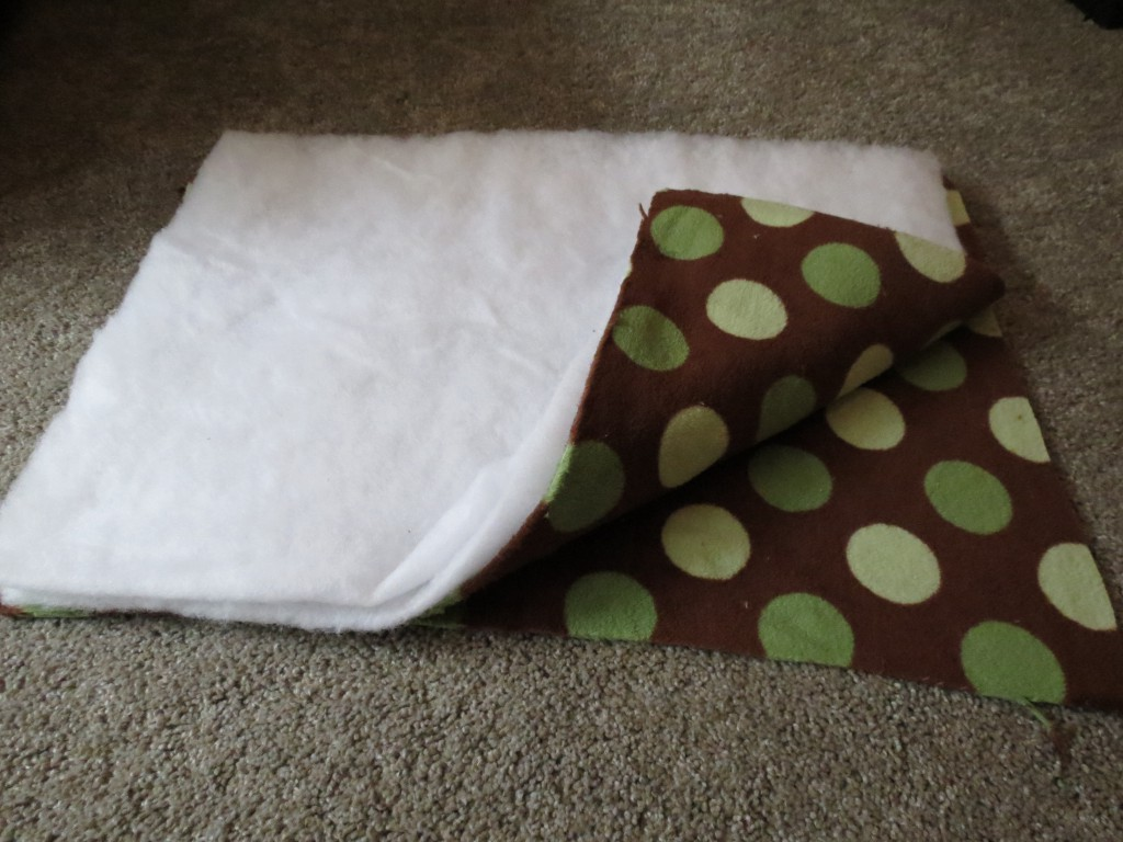 how to make a fleece dog bed
